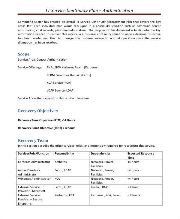 6+ Service Plan Templates - Examples in Word, PDF - service plan templates
