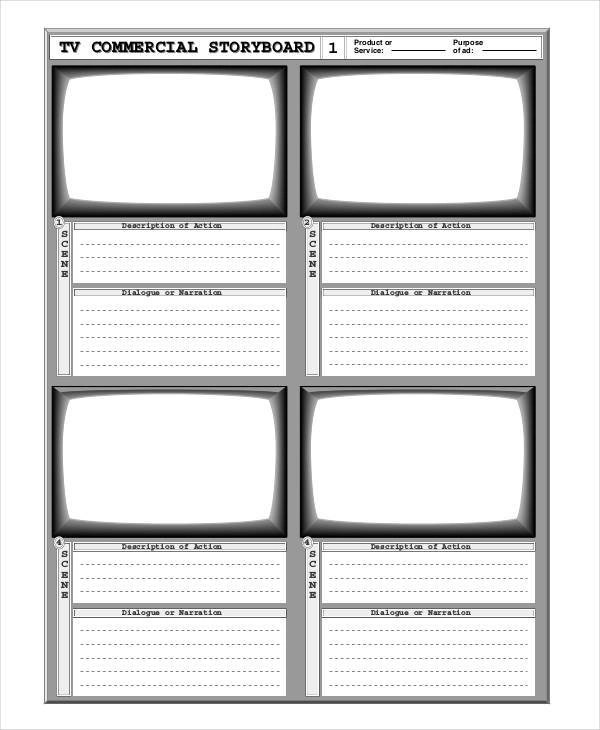 5+ Commercial Storyboard \u2013 Examples in Word, PDF Sample Templates - commercial storyboards