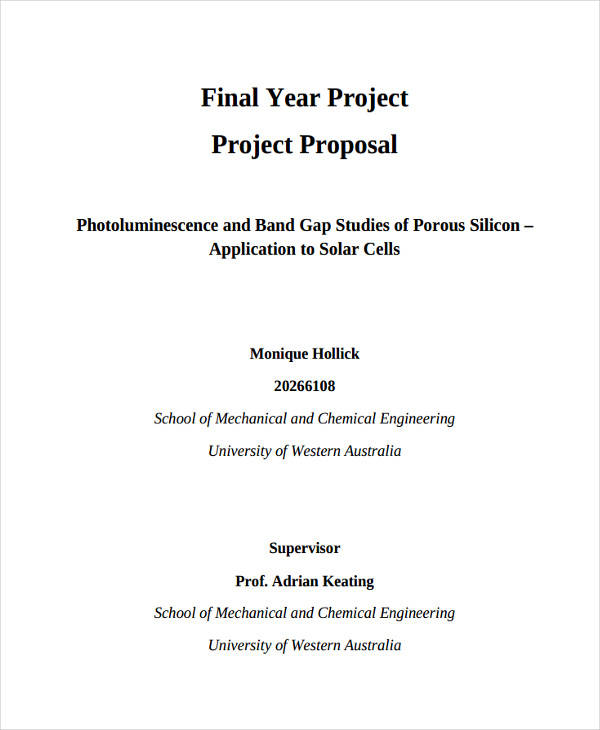 43 Project Proposal Formats Sample Templates - project proposals