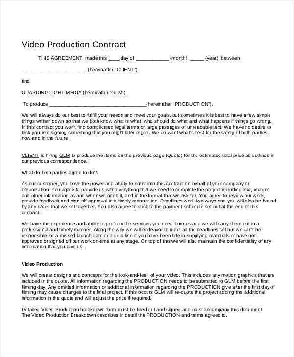 7+ Project Contract Templates - Free Sample, Example, Format Download - project contract templates