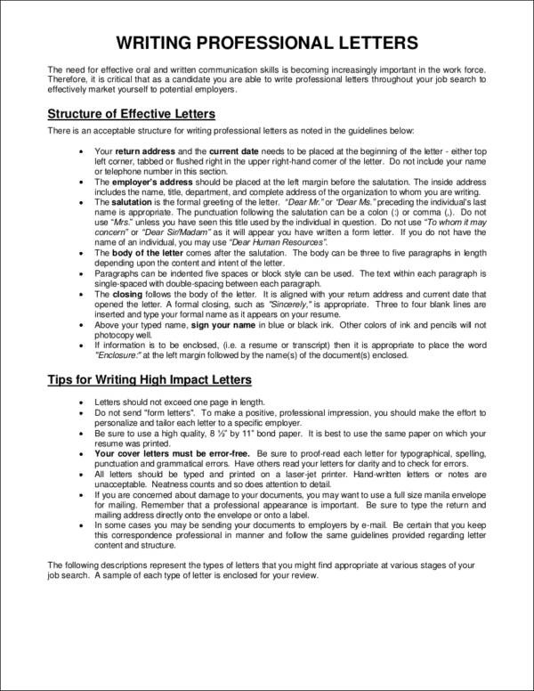Professional Letter and Email Writing Guidelines