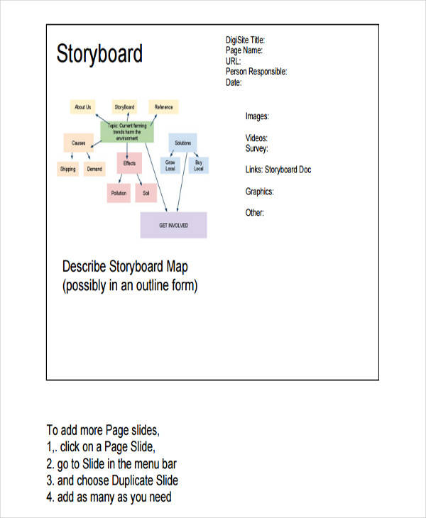 Website Storyboard Oakandale