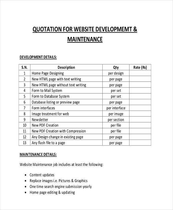New quotation format jobsbillybullockus – New Quotation Format