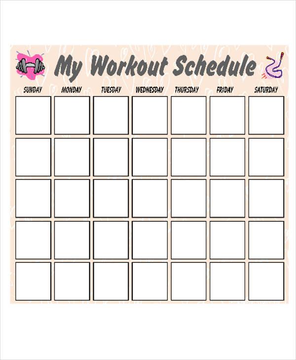 Calendar Template Pdf december 2017 printable calendar template - workout calendar template
