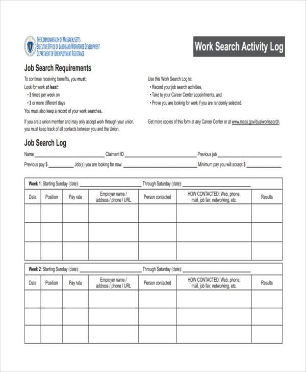 28+ Log Samples  Templates - PDF, DOC