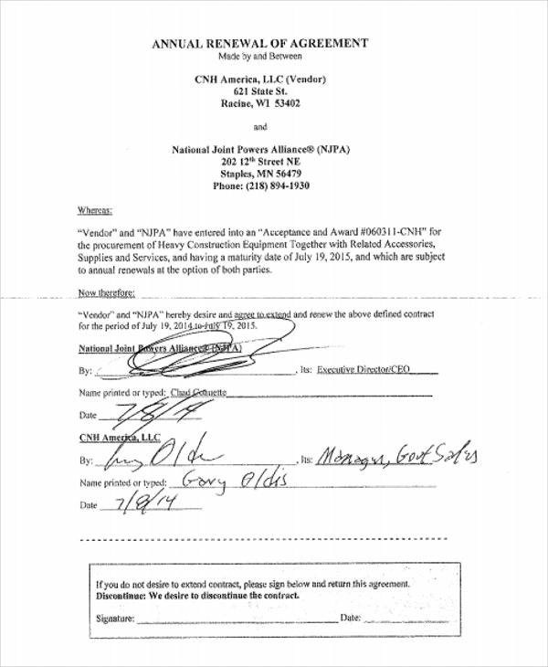 Yearly Contract Template Yearly Maintenance Dawtec Com Details File