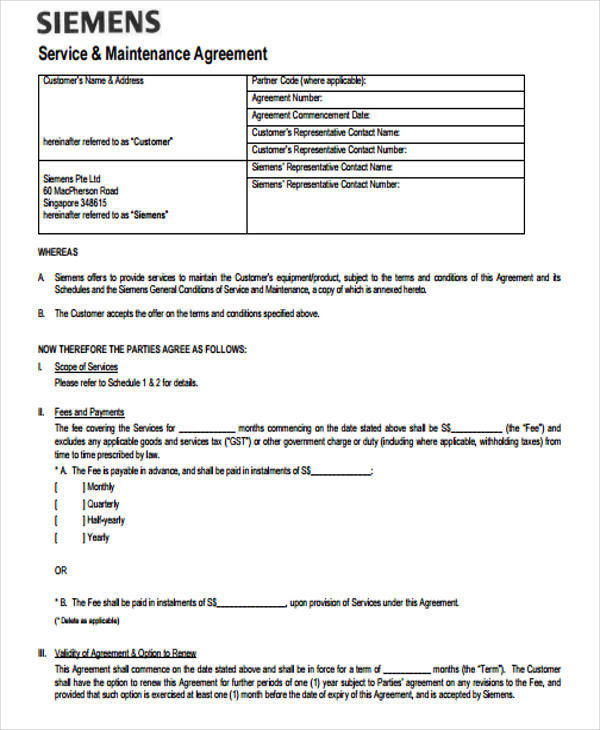 7 Yearly Contract Samples  Templates Sample Templates - Yearly Contract Template