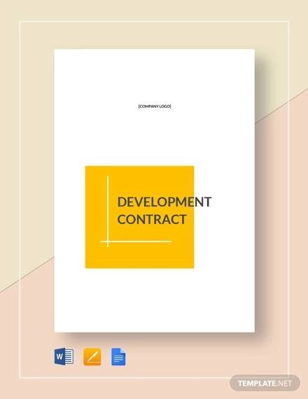9+ Printable Development Contract Samples  Templates in PDF, Word
