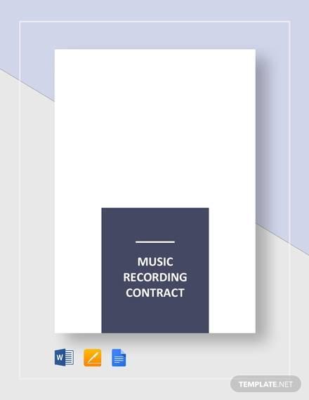 10+ Music Contract Samples  Templates - PDF, Word, Google Docs