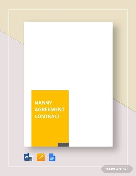 7+ Nanny Agreement Contract Sample Templates - Word, Docs