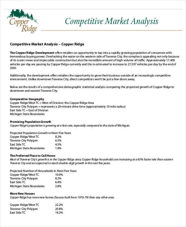 6 Competitive Analysis - Free Sample, Example, Format Download - sample competitive analysis 2