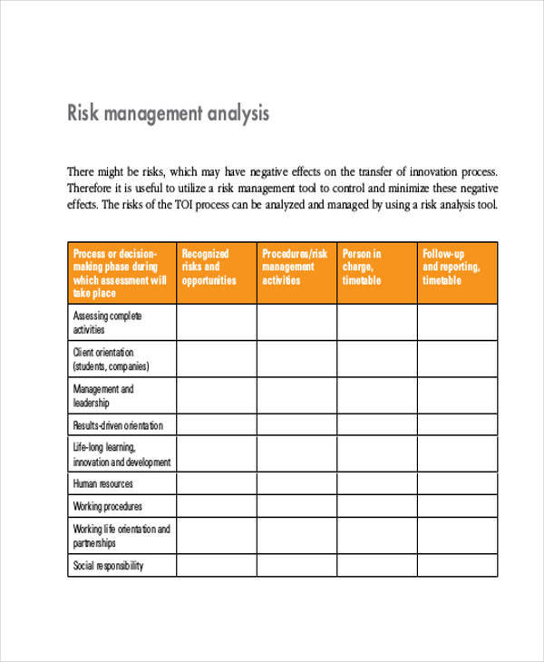 9 Management Analysis - Free Sample, Example, Format Download - management analysis sample