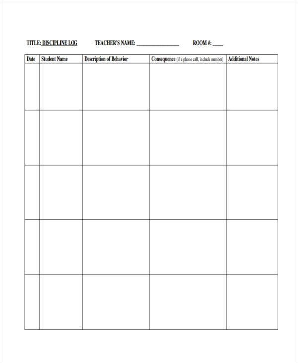 9+ Behavior Log Examples - Free Sample, Example, Format Download - behavior log examples