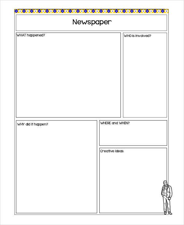 newspaper cutting template