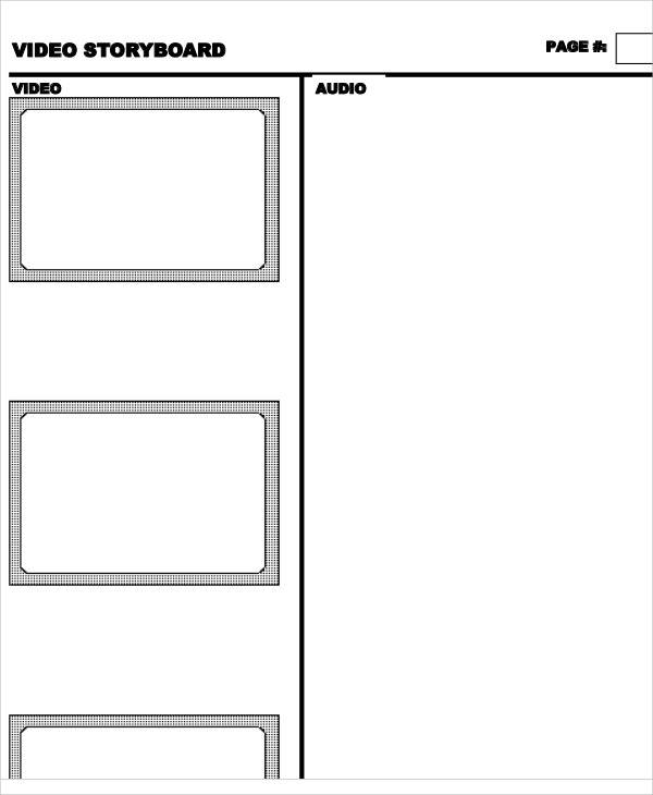 10 Video Storyboard Templates - Free Sample, Example, Format Download - video storyboard template