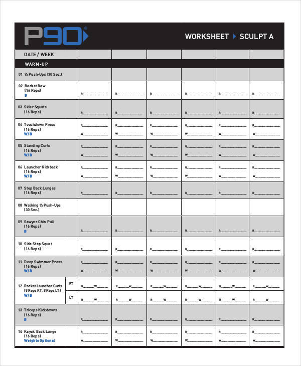 Blank Workout Sheet best 25 workout log book ideas on pinterest – Blank Workout Sheet