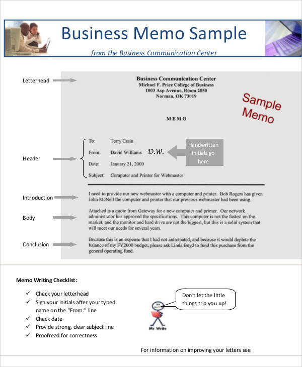 9+ Business Memo Templates \u2013 Free Sample, Example, Format Download - Sample Business Memo