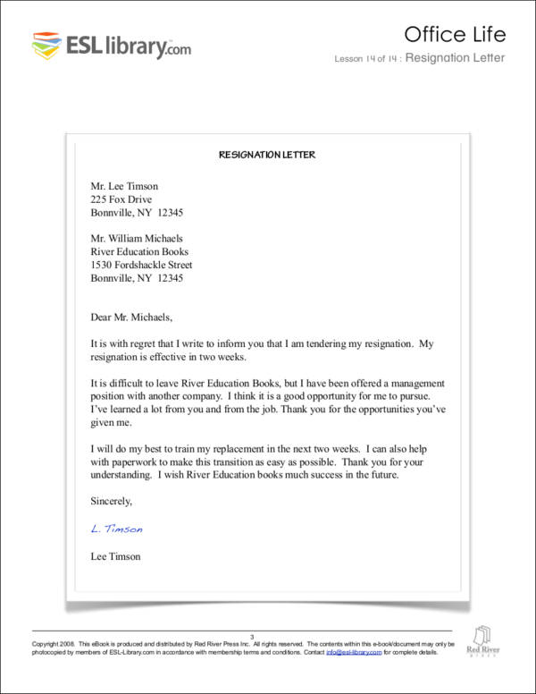 Always Make Your Resignation Letter Polite Sample Templates