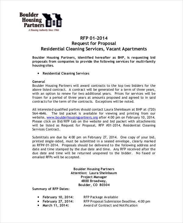 cleaning services contract template
