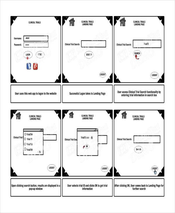 8 Website Storyboard Samples - Examples in PDF