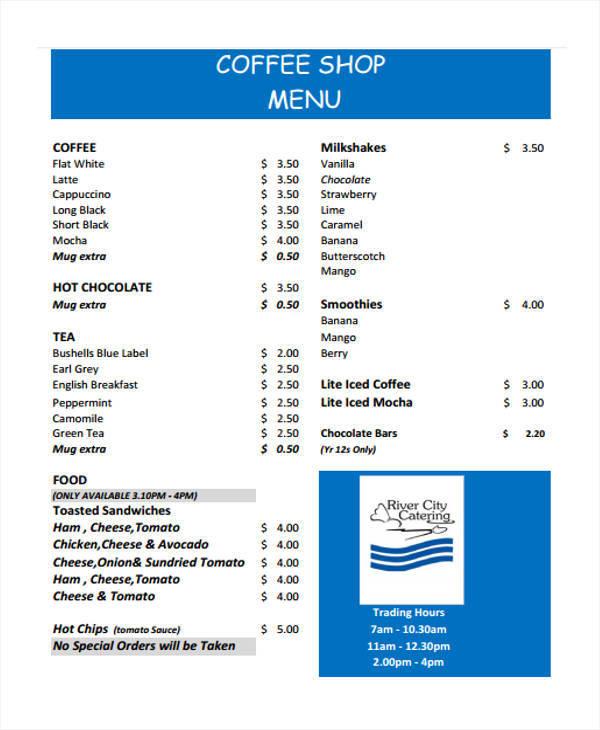 menu list sample pro-thai - menu list sample