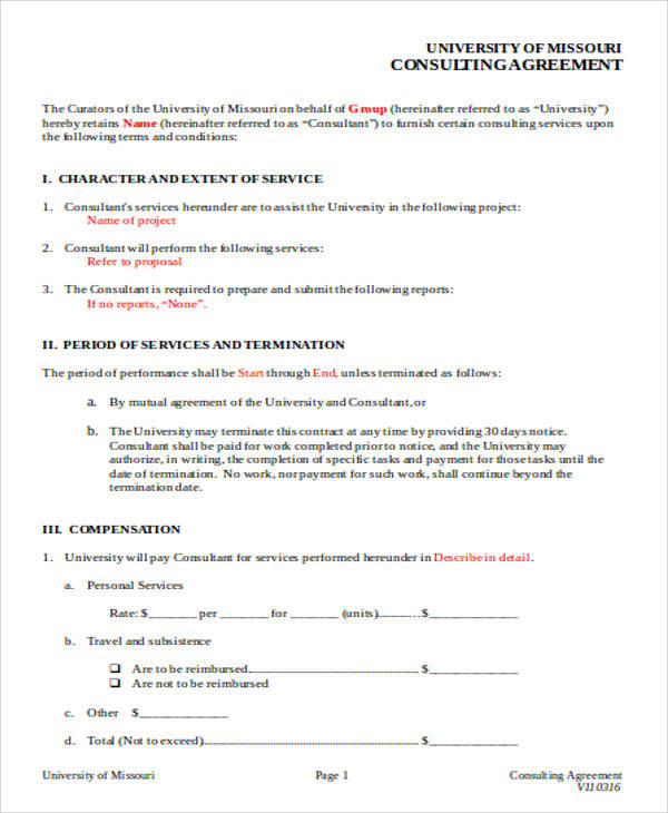 consulting agreement form - solarfm - consulting agreement forms