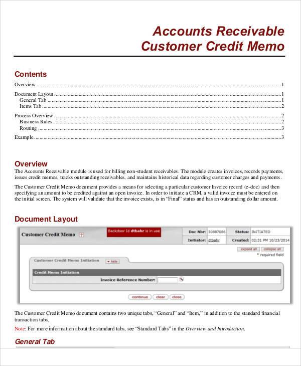 7 Credit Memo Samples  Templates Sample Templates