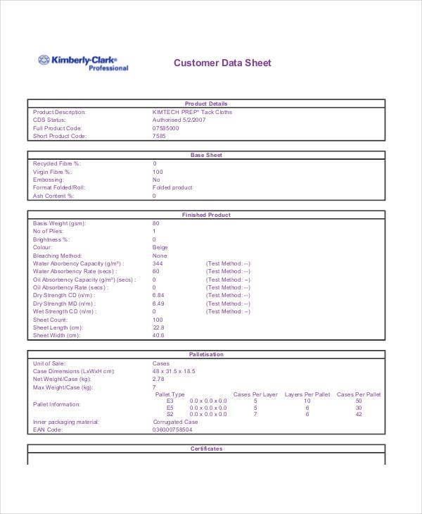 Sample Specification Sheet Template Example madebyrichard