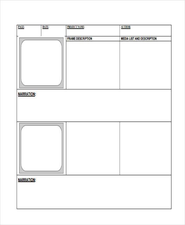 Digital Storyboard Templates - 7+ Examples in Word, PDF - digital storyboard templates