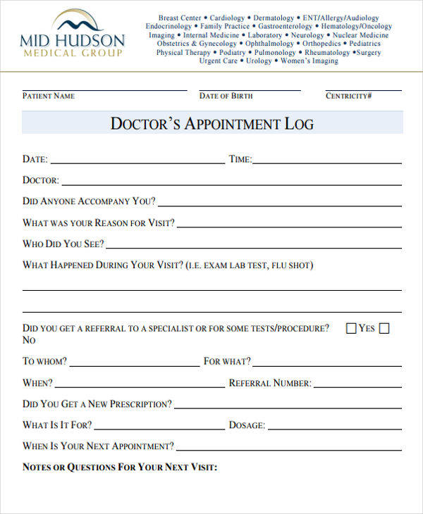 Appointment Sign In Sheet Template Balance sheet generator - doctor sign in sheet
