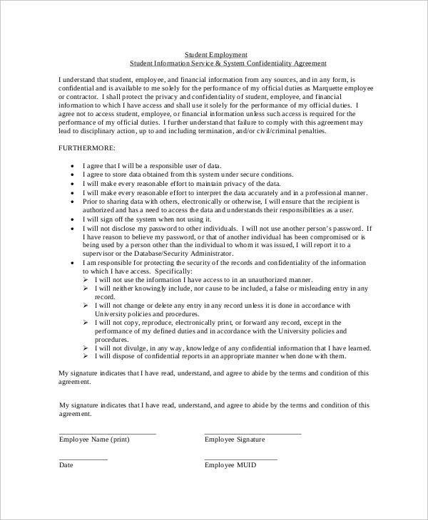 11+ Financial Confidentiality Agreements - Free Word, PDF Format