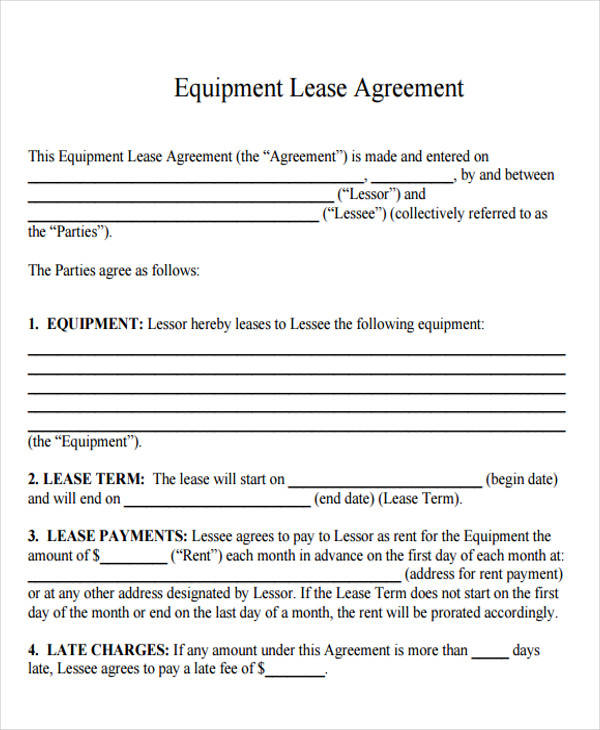 32+ Lease Agreement Forms in PDF