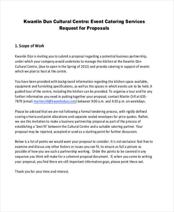 Top Result 70 Elegant Catering Proposal format Photography 2018 Iqt4