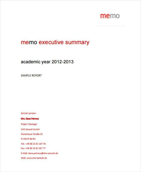 executive memo format - Pinarkubkireklamowe