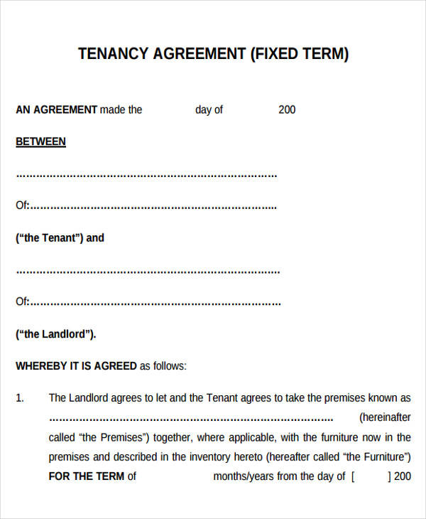 33 Lease Agreement Forms in PDF Sample Templates - printable rental agreement forms