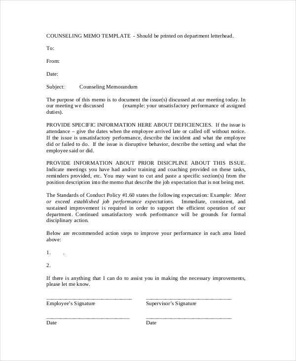 8 Formal Memo - Free Sample, Example, Format Download
