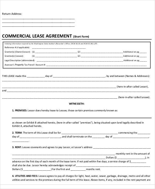 50 Lease Agreements in PDF Sample Templates - free lease agreements