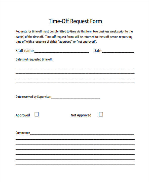 Free Time Off Request Form Overtime Request Form When The Add - sample leave request form