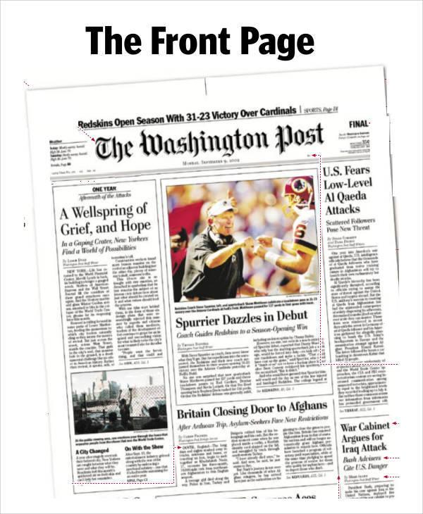 newspaper template lesson plan