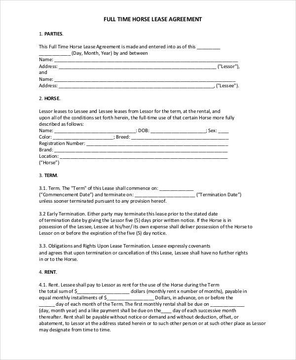 49+ Lease Agreements in PDF