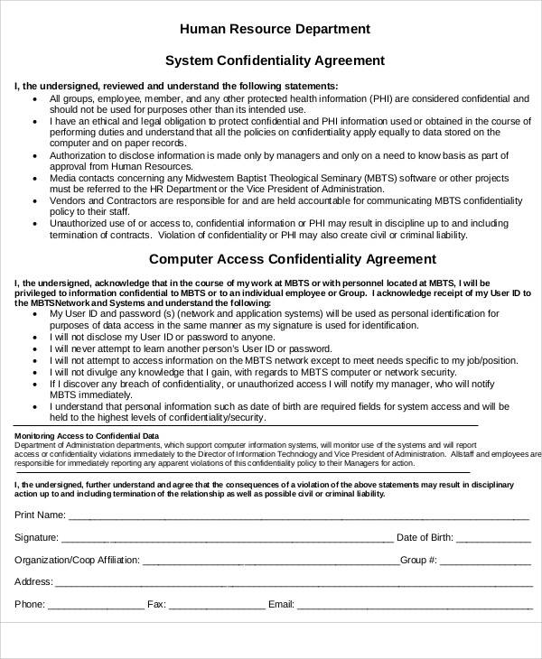 Hr Confidentiality Agreement Protect Your Company With A