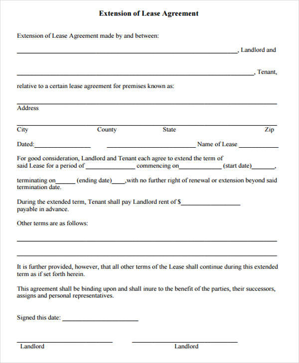 39 Lease Agreement Forms Sample Templates