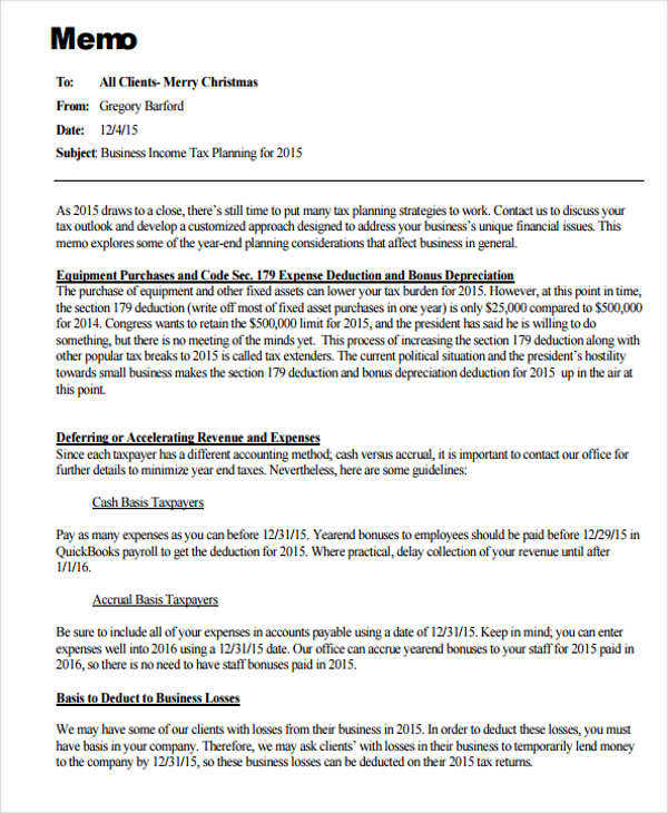 Business Memo Template - 13+ Examples in Word, PDF, Google Docs