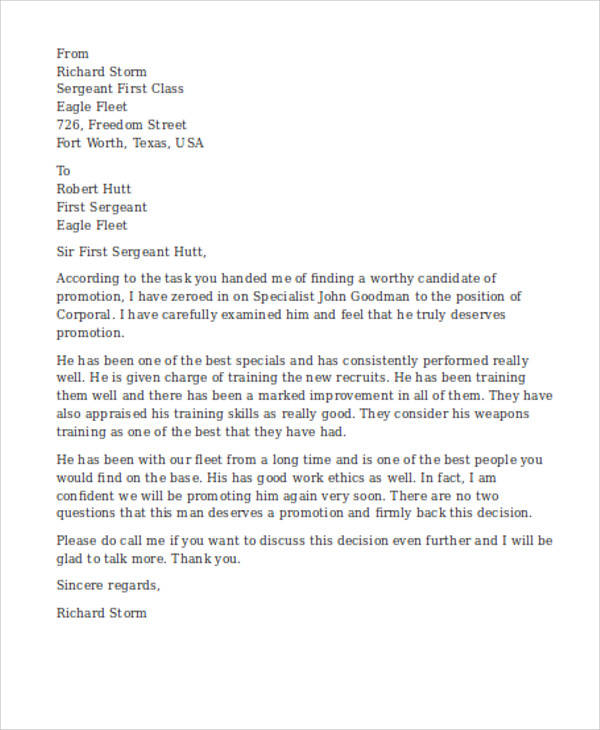 military recommendation letter - Onwebioinnovate