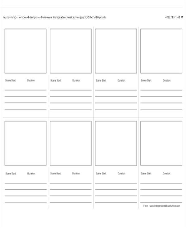 10 Video Storyboard Templates - Free Sample, Example, Format Download - sample video storyboard template