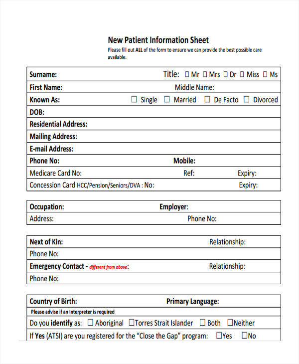 46 Information Sheet Samples Sample Templates - information sheet template