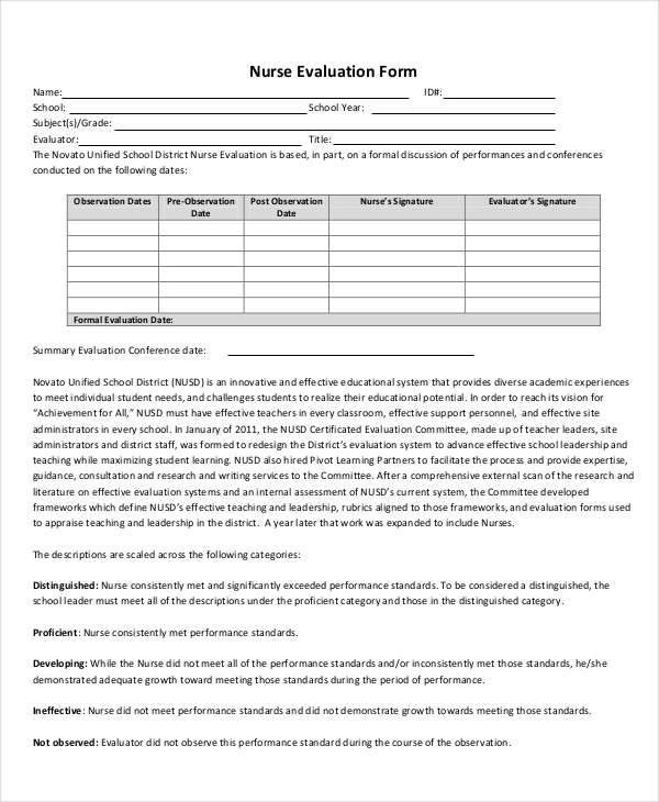 standard employee evaluation form - Towerssconstruction