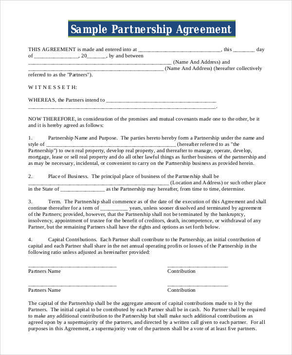 partnership contract agreement - Goalgoodwinmetals - Partnership Agreement Contract
