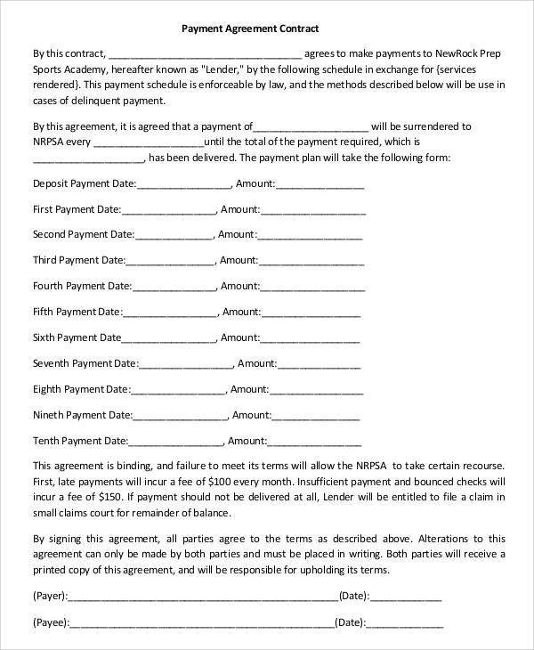 Sample Contract Agreement - 50+ Free Documents Download in PDF, Word - payment agreement contract