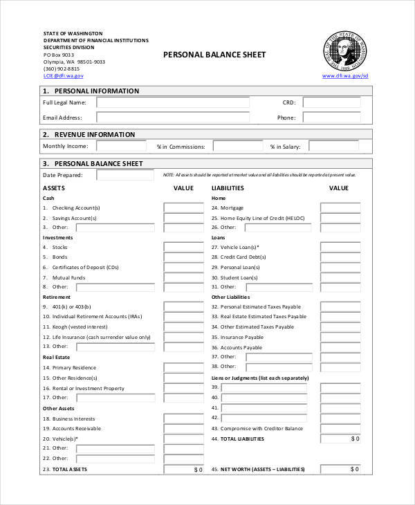 39 Sheet Samples  Templates Sample Templates - personal info sheets